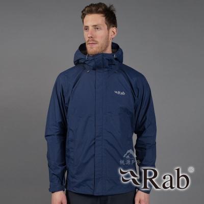 【RAB 英國】男 超輕量防風防水外套│夾克『暮藍』QWF61