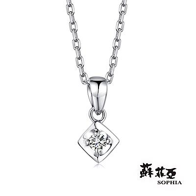 蘇菲亞SOPHIA 鑽石項鍊-浪漫滿屋0.05克拉鑽鍊