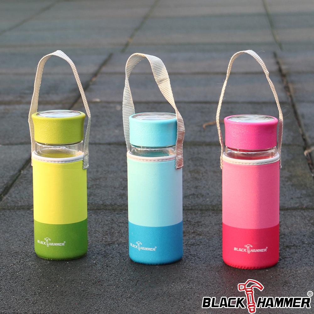 義大利BLACK HAMMER  雙層耐熱玻璃水瓶-310ml(附布套)