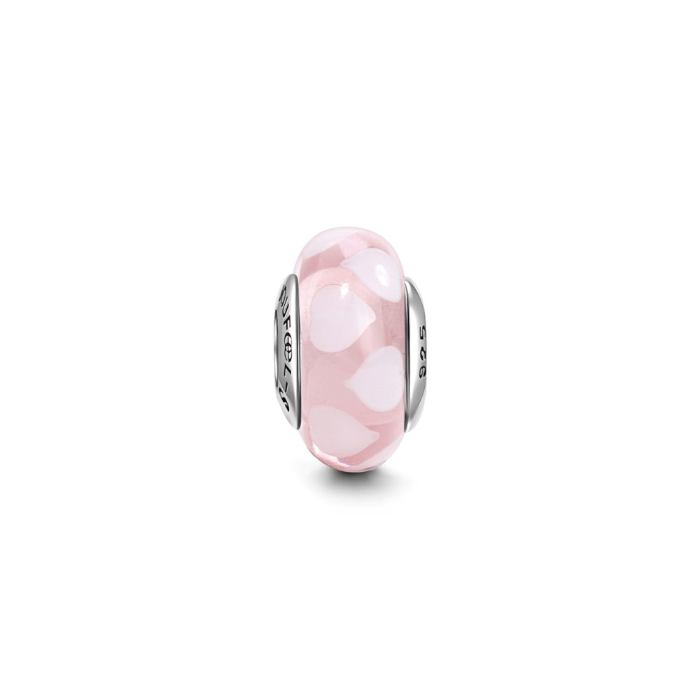 SOUFEEL索菲爾 925純銀珠飾 愛戀粉心 琉璃珠