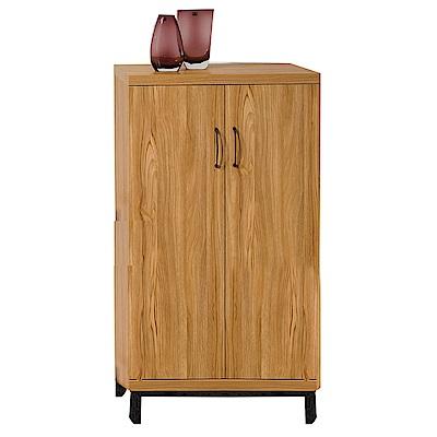 品家居 愛蘭2.2尺淺木紋二門鞋櫃-67x40x123cm免組
