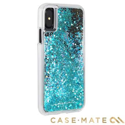 美國 Case-Mate iPhone X Waterfall 亮粉瀑布保護殼-藍綠