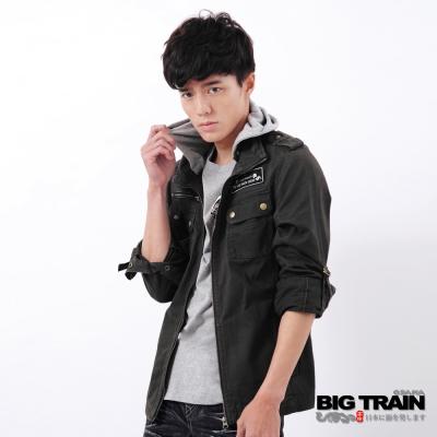 BIG TRAIN-男用水洗夾克-鐵灰