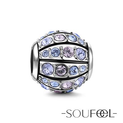 SOUFEEL索菲爾 925純銀珠飾 星空(紫) 串珠