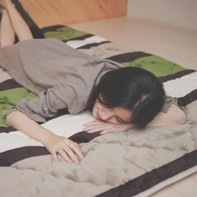 葉月 台灣製 單人-超厚法蘭絨防靜電專利日式床墊-夢的彼岸