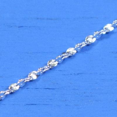 維克維娜 18吋純銀花鎖鍊。義大利925純銀單鍊
