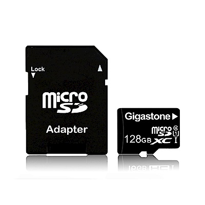 Gigastone 128GB MicroSDXC UHS-I高速記憶卡(附轉卡)