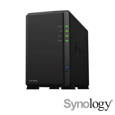 Synology DS218play 網路儲存伺服器+4TB*2超值組