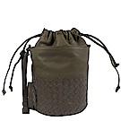 BOTTEGA VENETA編織斜背束口水桶包(大象灰)