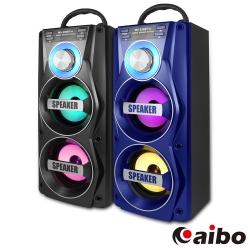 aibo L106 行動卡拉OK 手提木質無線藍牙喇叭(MIC/USB/TF/FM)