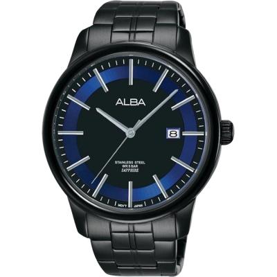 ALBA雅柏 日系時尚手錶(AS9D87X1)-鍍黑/42mm