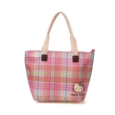 《Sanrio》HELLO KITTY彩色格紋系列迷你提袋