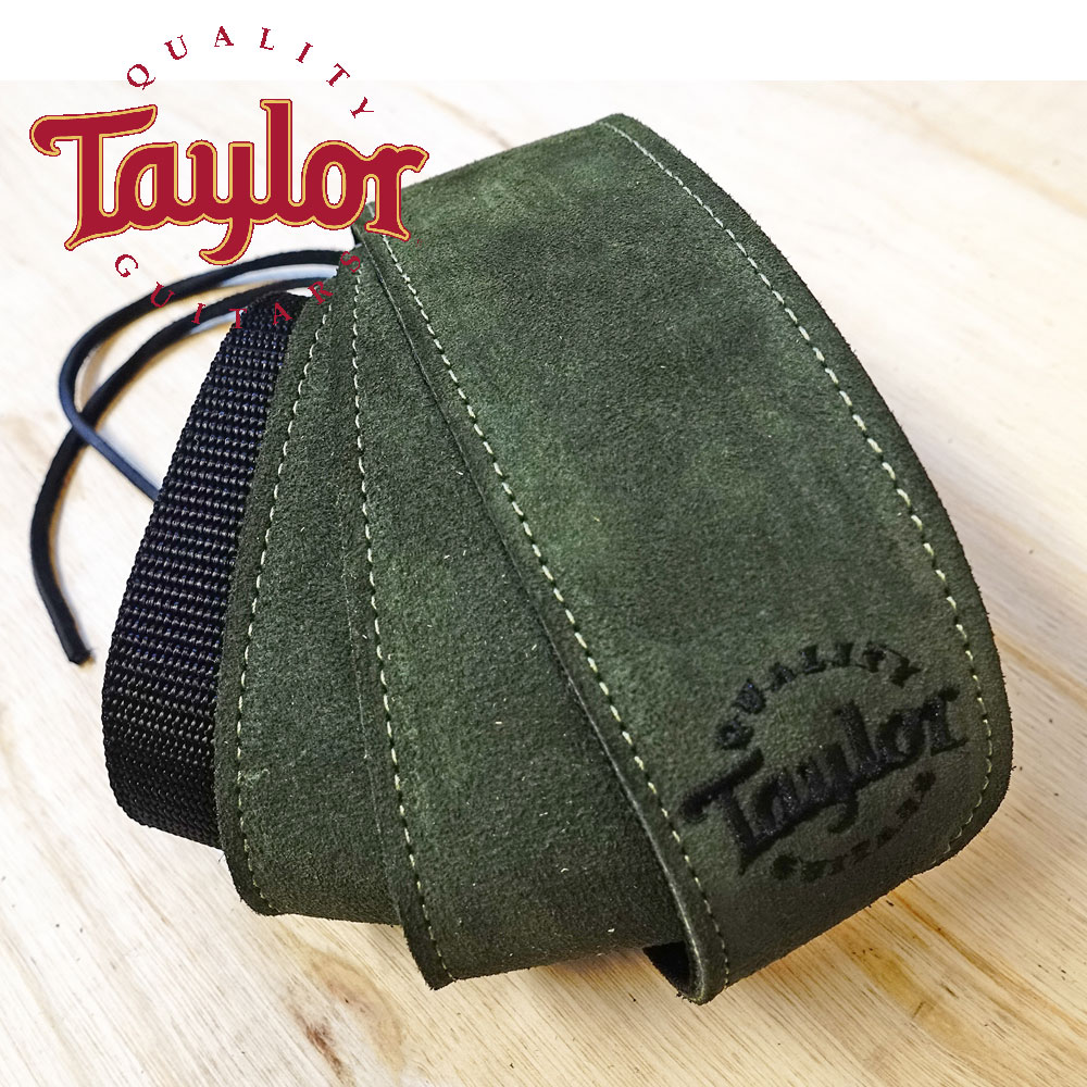 TAYLOR TLOP-65120 墨綠色麂皮尼龍吉他貝斯背帶