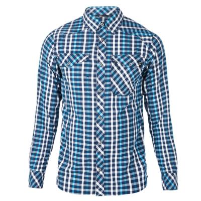 【Berghaus 貝豪斯】男款銀離子抗UV長袖襯衫S05M02-藍