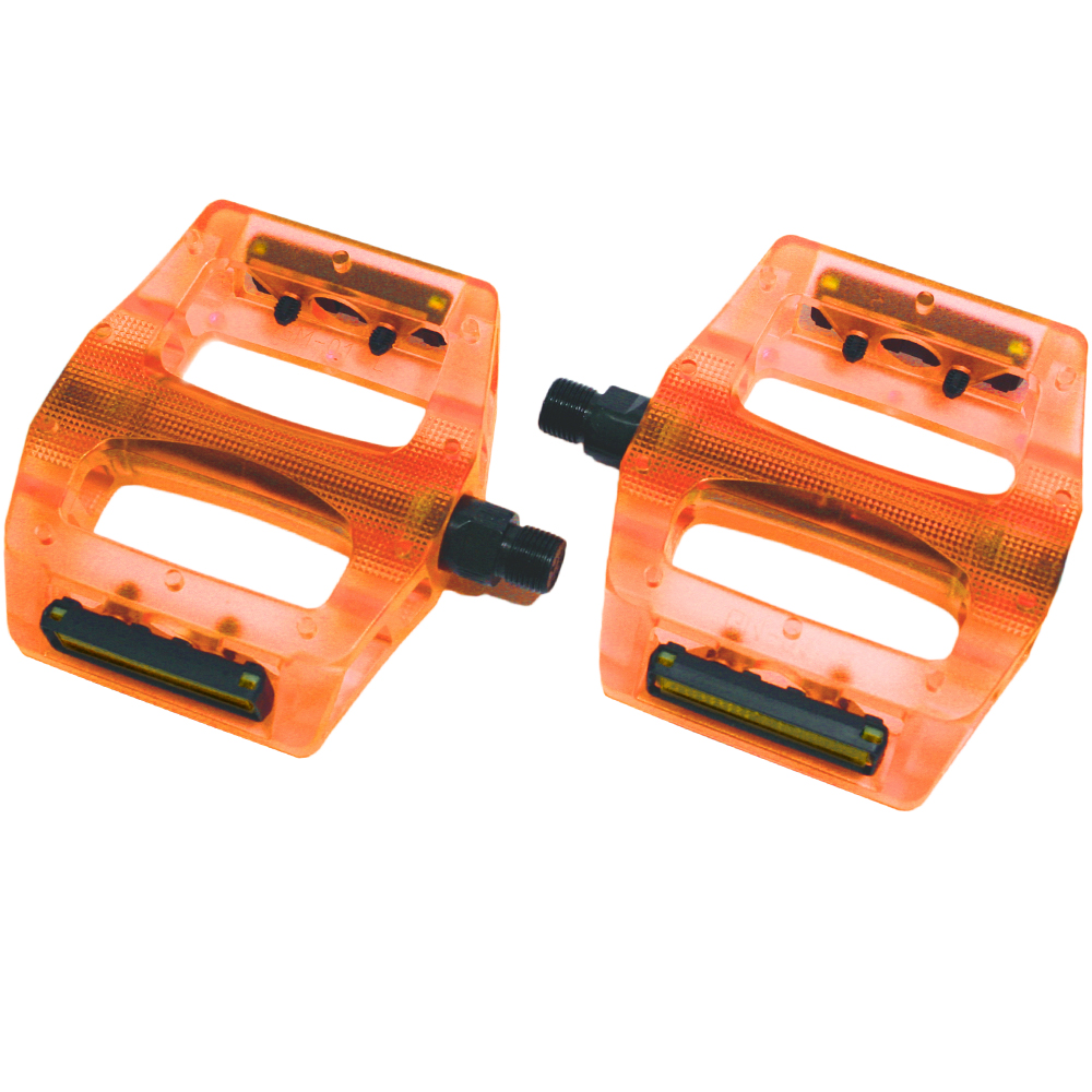 【SAPIENCE】炫彩透明設計款大面積踏板(螢光橘)
