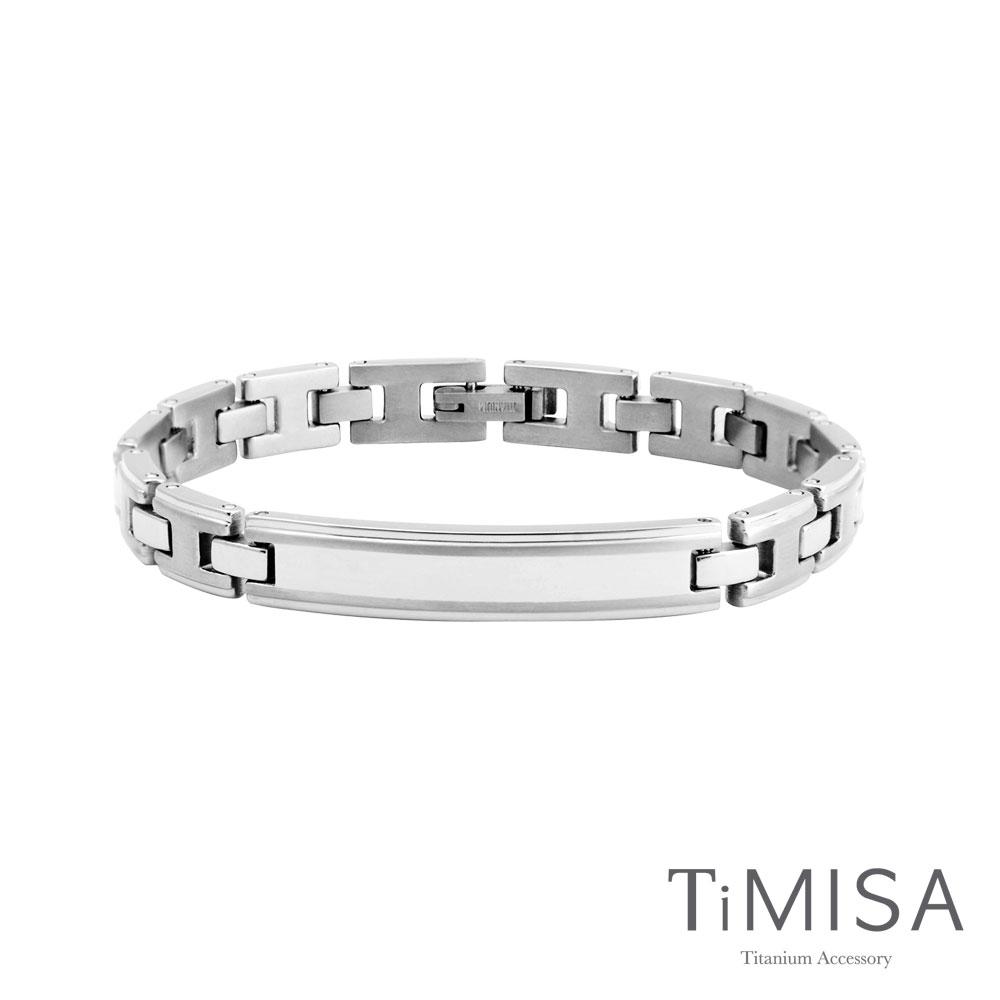 TiMISA《純粹品味-細版》純鈦鍺手鍊