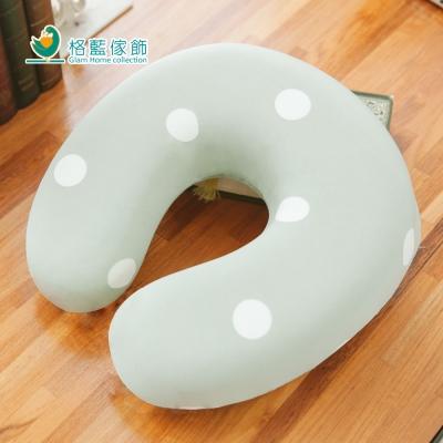 格藍傢飾 水玉涼感舒壓護頸枕(小)-抹茶綠