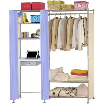 巴塞隆納-W3型90公分+E60公分電腦桌衣櫥架