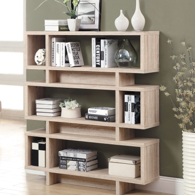 品家居 康仕4尺造型書櫃(四色可選)-120x29.5x138.5cm-免組