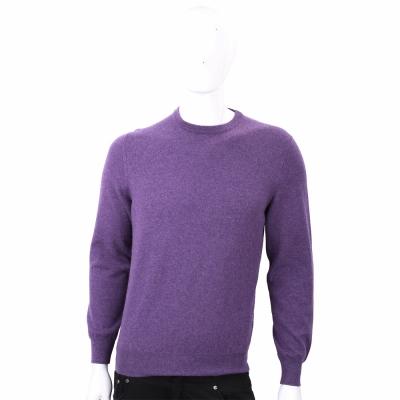 Ermenegildo Zegna 100%喀什米爾紫色針織羊毛衫