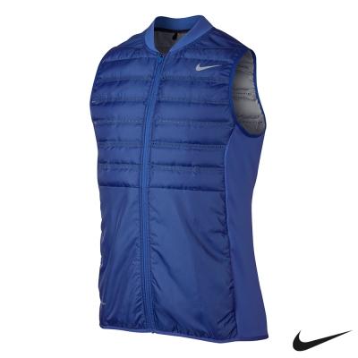 NIKE GOLF 輕量 保暖 運動背心 外套-藍801892-480