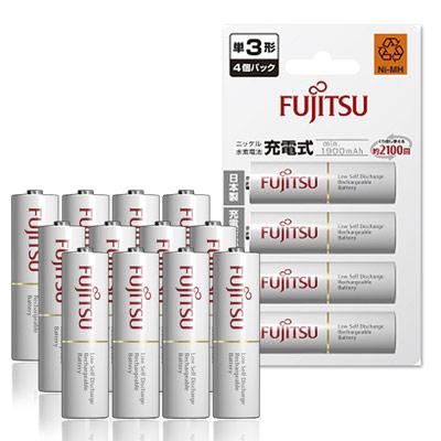 Fujitsu 低自放3號1900mAh 鎳氫充電電池(12顆入)