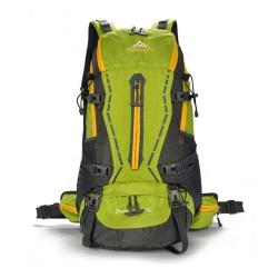 JINSHIWEIQI輕羽專業網架背包/登山包FK328GN綠色45L(附雨套)