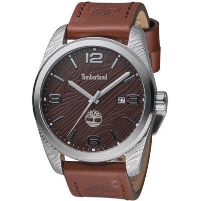 Timberland 木林遍野時尚腕錶-咖啡/46mm