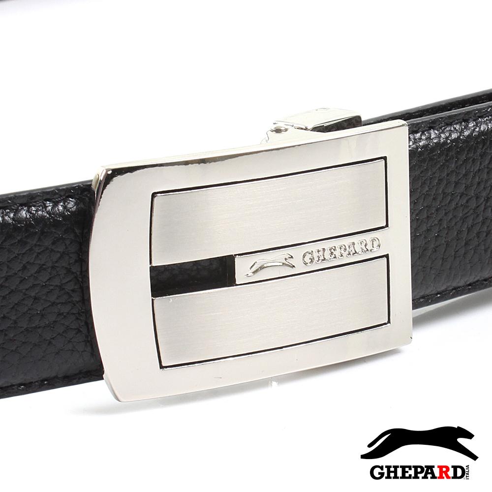 GHEPARD捷豹-雋系列-頭層牛皮點扣皮帶