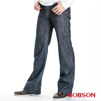 BOBSON 男款植絨貼合布直筒褲