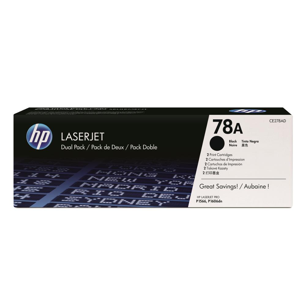 HP CE278AD 原廠黑色碳粉匣(雙包裝)