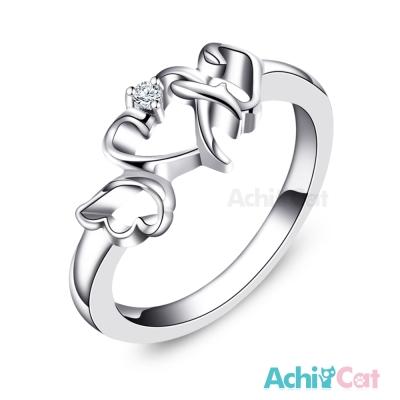 AchiCat 珠寶白鋼戒指尾戒 飛往幸福