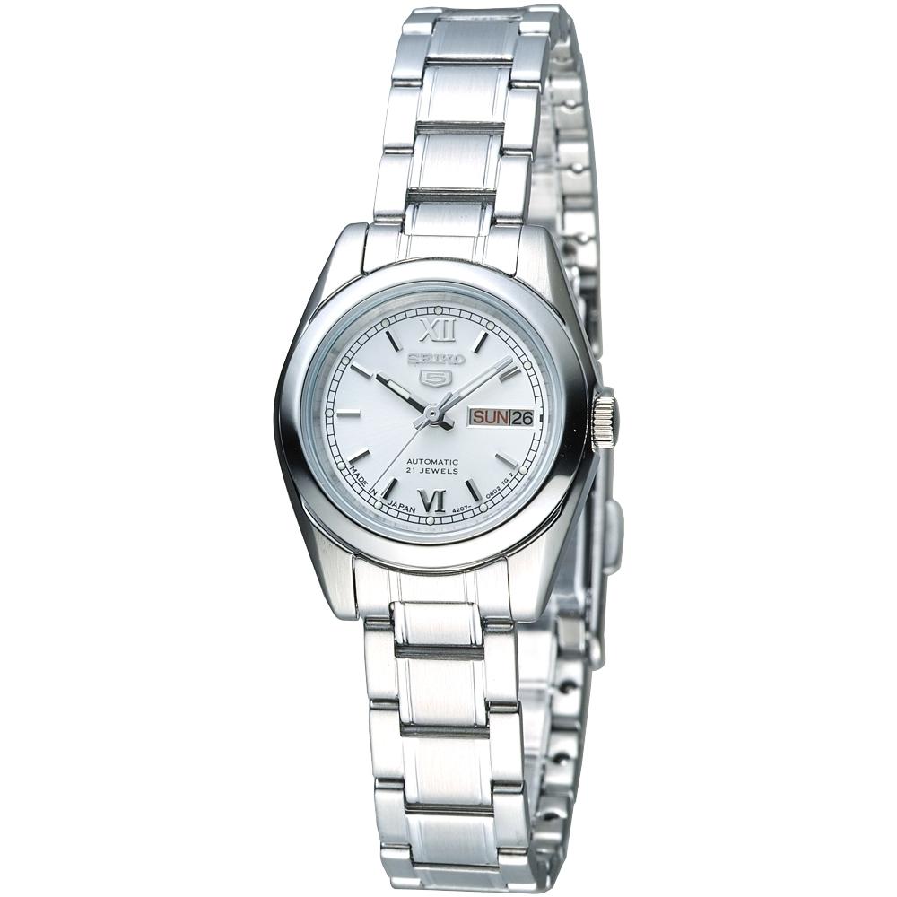 SEIKO MJ新貴經典5號自動機械女錶(SYMK23J1)-白/25mm