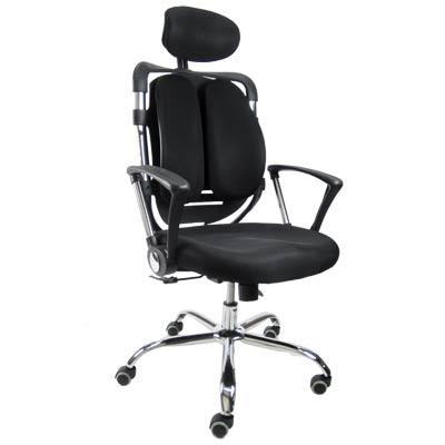 韓國機能雙背透氣網椅 人體工學設計 紓壓背脊 兩色可選