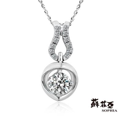 蘇菲亞SOPHIA 鑽石項鍊 - 愛情依偎 0.28克拉鑽鍊
