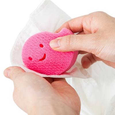 日本製造AISEN黏貼式(領口袖口)超極細海綿刷  3包裝