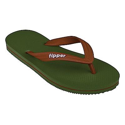 Fipper SLICK 天然橡膠拖鞋 GREEN-BROWN