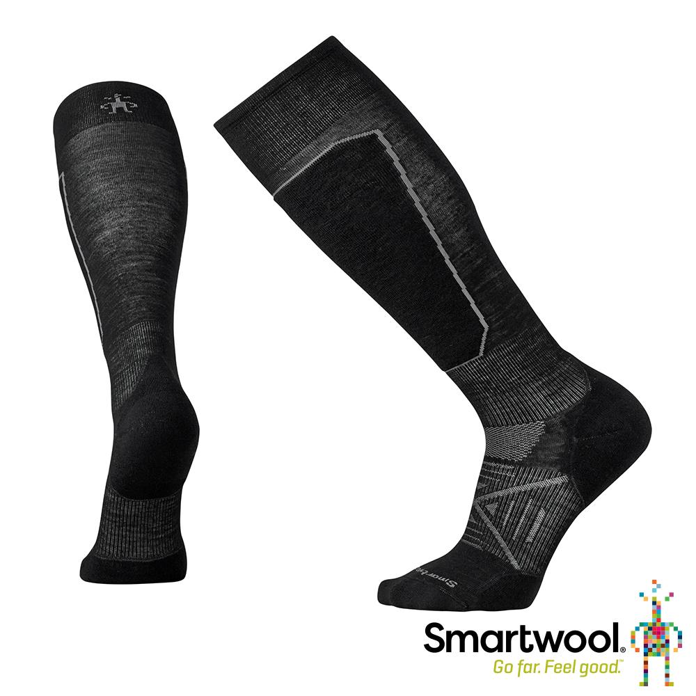 SmartWool PhD滑雪輕量菁英避震高筒襪 黑