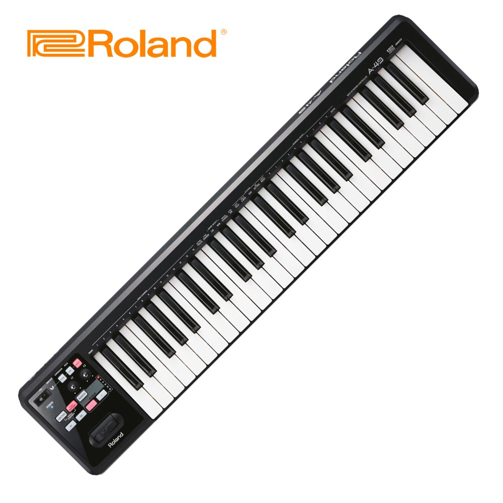 ROLAND A49 MIDI 49鍵主控鍵盤 黑色款