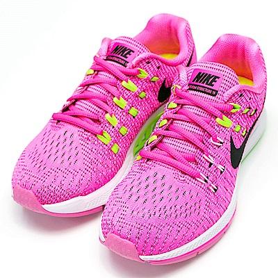NIKE-STRUCTURE 19女慢跑鞋-螢光粉紅
