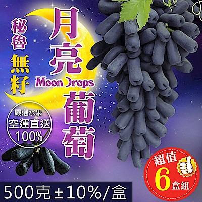 天天果園*秘魯無籽月亮葡萄(每盒500g±10%) x6盒