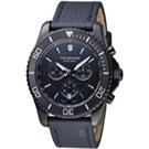 VICTORINOX SWISS ARMY維氏MAVERICK潛水計時手錶-黑/44mm