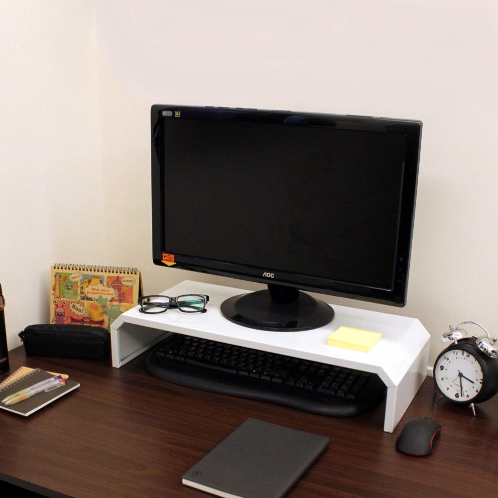 頂堅 鐵板製-桌上型置物架/螢幕架(二色可選)