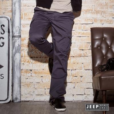 JEEP-美式經典萊卡工作褲-鐵灰