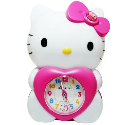 Hello Kitty 抱愛心立體公仔靜音貪睡鬧鐘 JM-E989KT