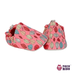 英國 POCONIDO 純手工柔軟嬰兒鞋 (秋葉-紅)