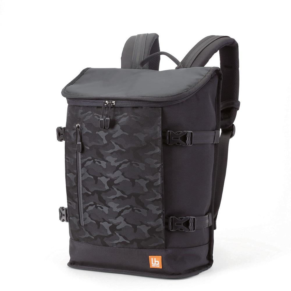 ELECOM 防潑水戶外多功能後背包-黑