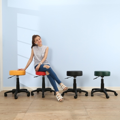 BuyJM 馬卡龍皮面圓型旋轉椅-DIY