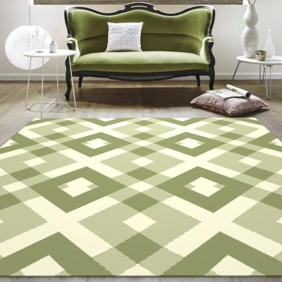 范登伯格 - 艾薇兒 多變視覺地毯 - 菱格 (綠 - 160 x 230cm)