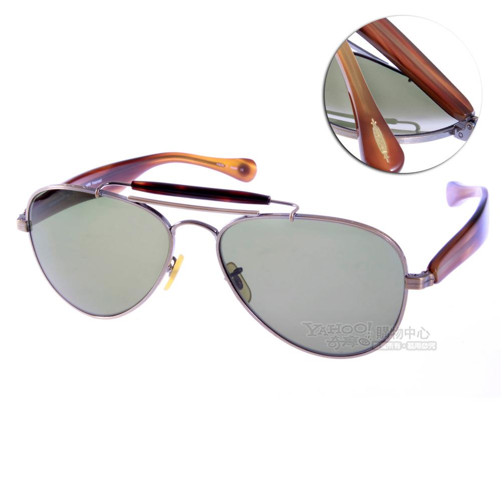 OLIVER PEOPLES太陽眼鏡 好萊塢星鏡/墨綠棕#TEARDROP 5039偏光